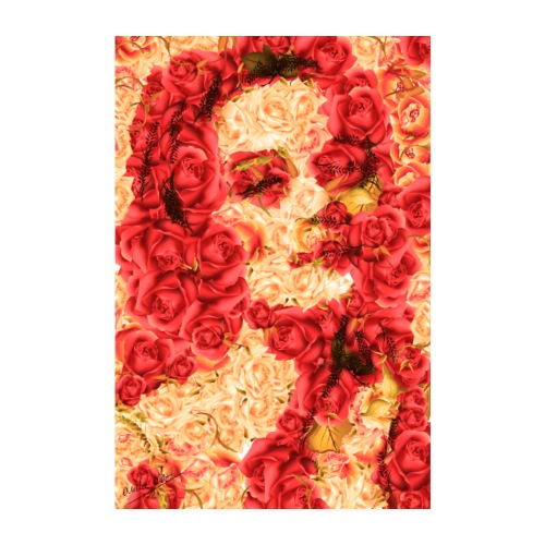 Naturecontest Retrato de mujer en jardín de rosas - Póster 20x30 cm