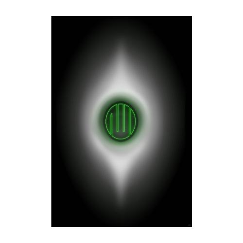 Allah-Kabe-HACERÜ`l esved Grün-Yesil - Poster 20x30 cm