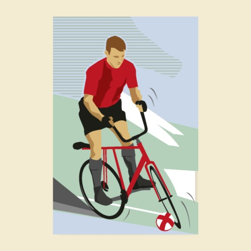Poster | Radball | Cycle Ball Man - Poster 20x30 cm