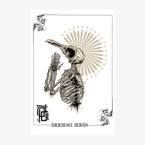 poster dark raven - Poster 20 x 30 cm