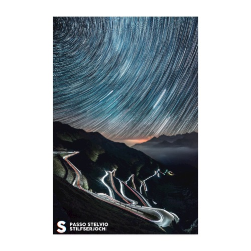 STELVIO BY NIGHT - Poster 8 x 12