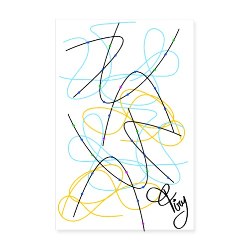 curve astratto Firy - Poster 8 x 12