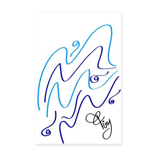 hypnotic blue sea - Poster 8 x 12