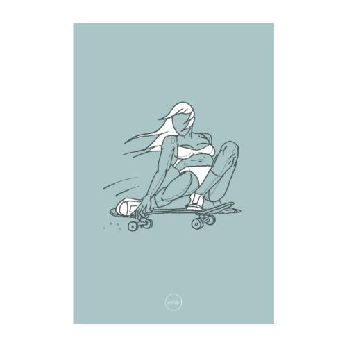 Skater Girl - Poster 20 x 30 cm