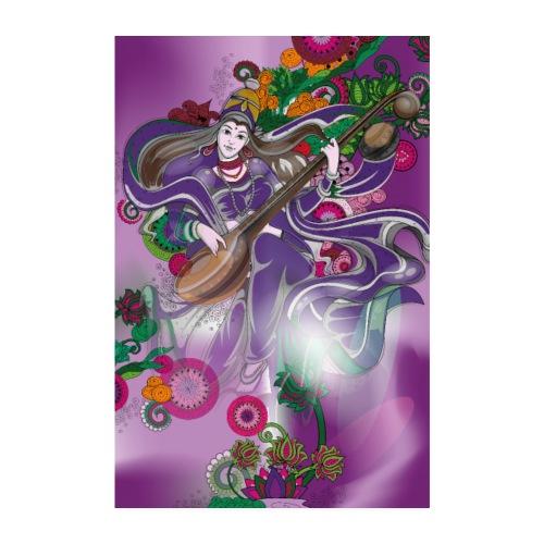 Sarasvati Poster Hindu Göttin der Kreativität - Poster 20x30 cm