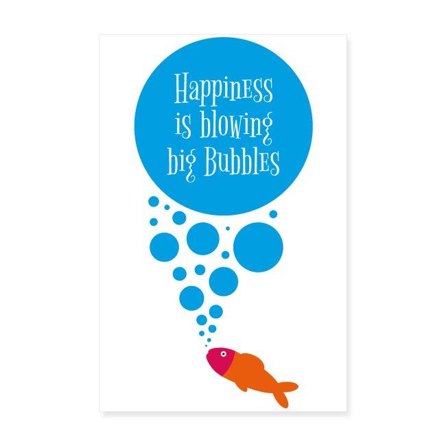 Meerfreude Big Bubbles Poster 20x30 Cm