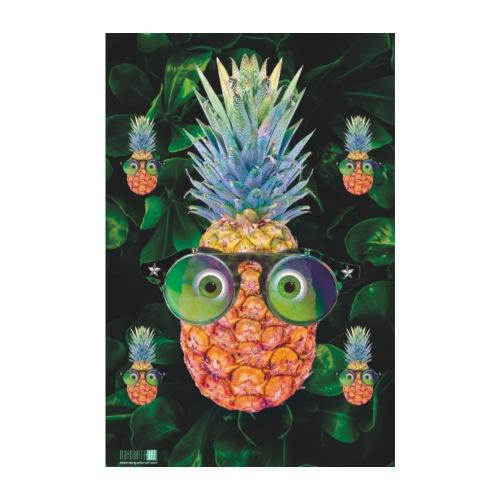05 Ananas mit Sonnenbrille Poster Margarita Art - Poster 20x30 cm