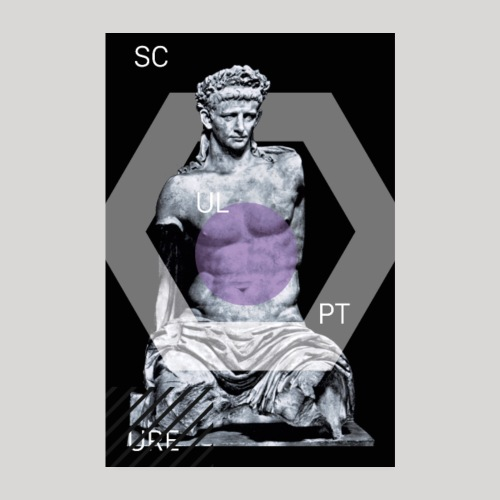 Statue Scup | Poster - Poster 20x30 cm