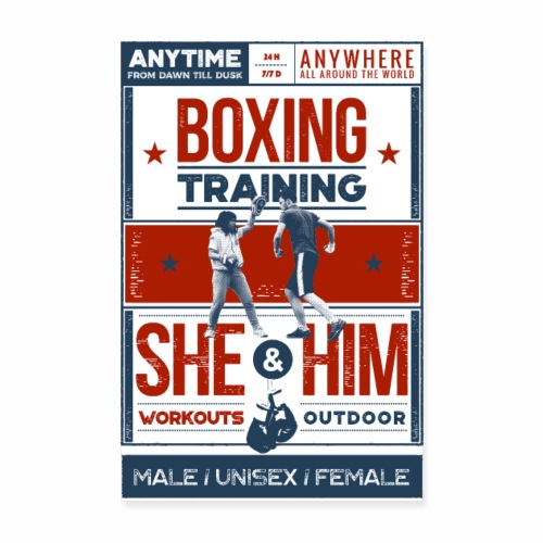 Boxing training - Poster - Poster 20 x 30 cm
