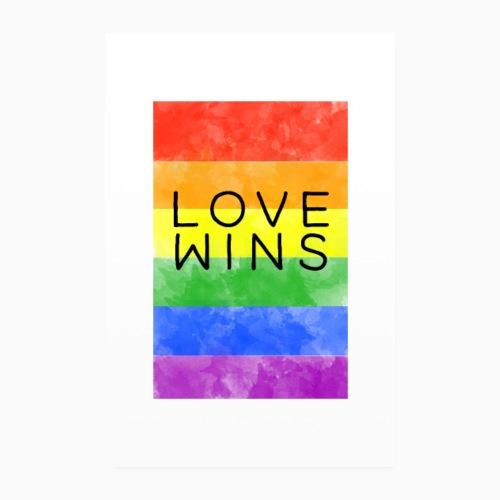LoveWins - Poster 8 x 12 (20x30 cm)