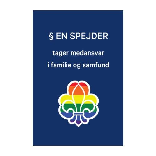Regnbuespejderplakat nr5 - Poster 20x30 cm