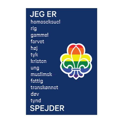 Regnbuespejderplakat nr1 - Poster 20x30 cm