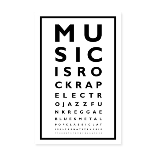 Music Poster - Poster 20 x 30 cm