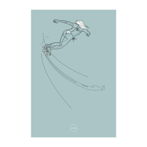 Skateuse en bikini - Poster 20 x 30 cm