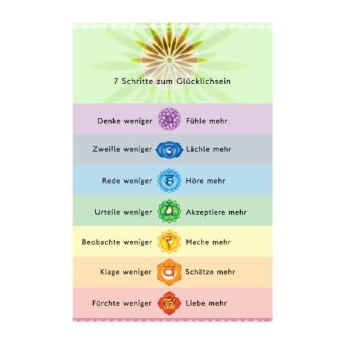 7 Schritte zum Glücklichsein Übungsanleitung - Poster 20x30 cm