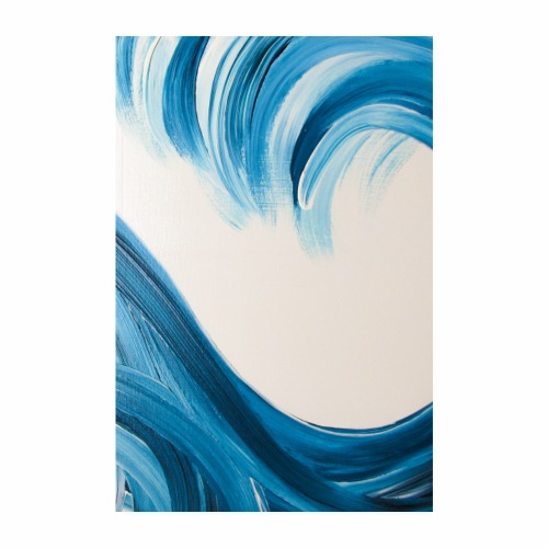 Große Welle hochformat - Poster 20x30 cm