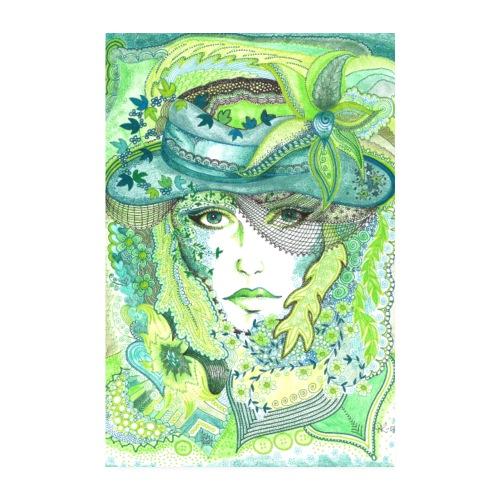 Tant Grön Poster - Poster 20x30 cm