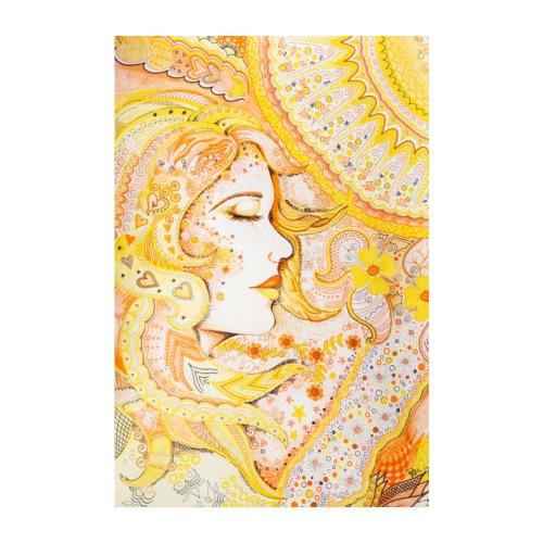 Fröken Sol Poster - Poster 20x30 cm