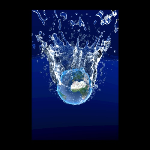 Global Warming Blue Edition - Poster 20x30 cm