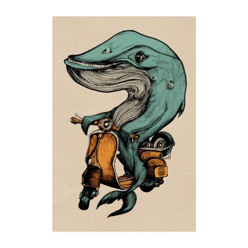 Motorroller Walfisch - Poster 20x30 cm