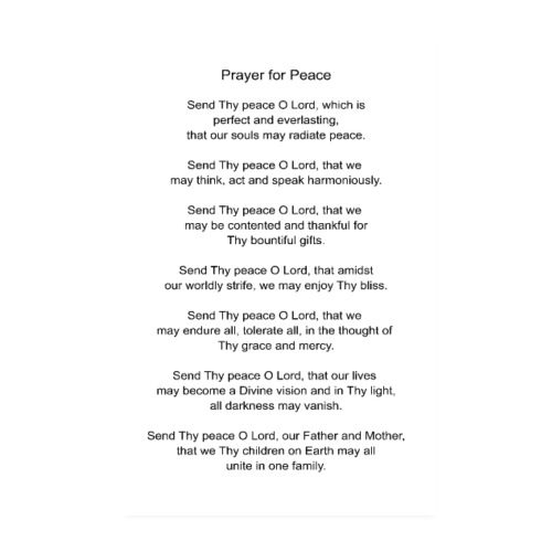 Prayer for Peace - Poster 8 x 12 (20x30 cm)