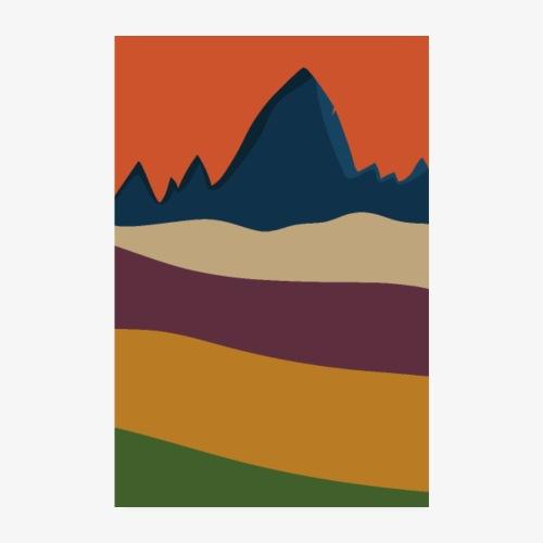 Berge und Wälder im Herbst - Poster 20x30 cm