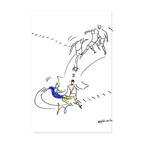 controllo e destro secco (ritaglio) - Poster 20x30 cm