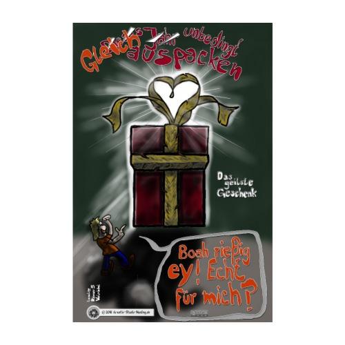 Design Das geilste Geschenk gleich auspacken - Poster 20x30 cm