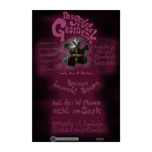 Design Das geilste Geschenk B Seite - Poster 20x30 cm