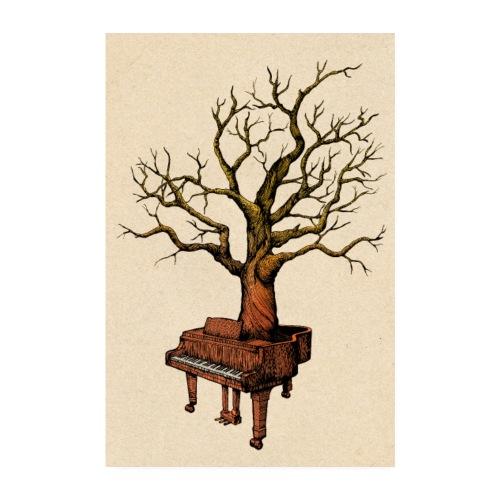 Klavier und Baum - Poster 20x30 cm