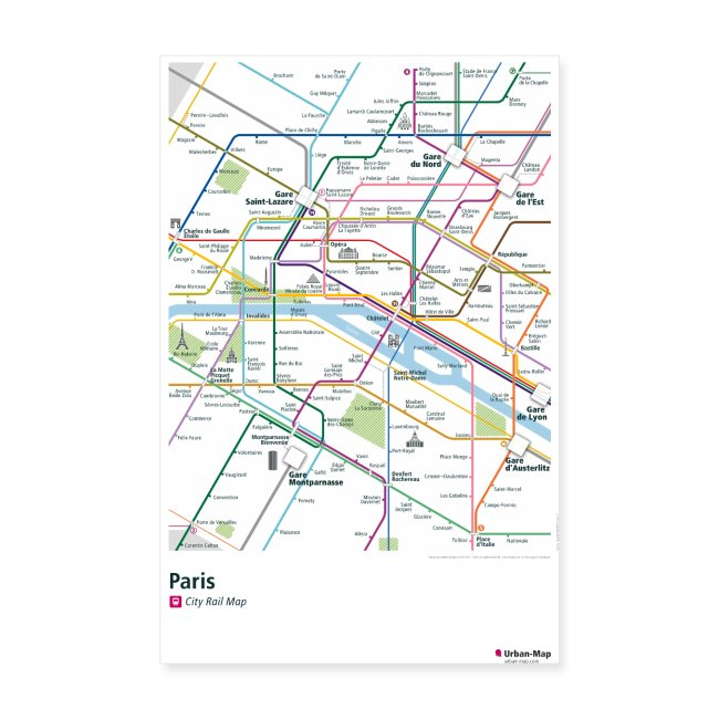 Paris Rail Map