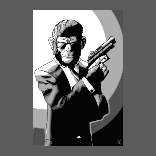 Affe Mit Waffe POSTER - Poster 20x30 cm