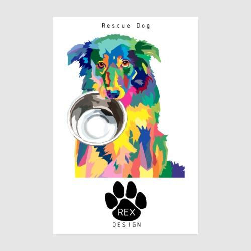 #AdoptDontShop - Poster 8 x 12 (20x30 cm)