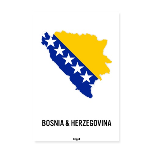 BLKN. x MAP (Bosnia & Hercegovina) - Poster 8 x 12 (20x30 cm)