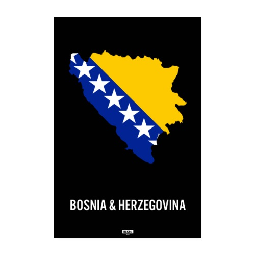 BLKN. x MAP (Bosnia & Herzegovina) - Poster 8 x 12 (20x30 cm)