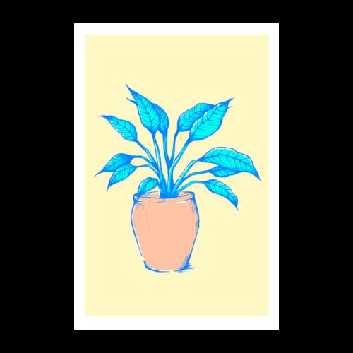 Einblatt Pflanze Poster - Poster 20x30 cm