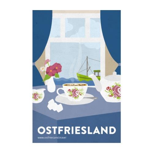 Ostfriesland Vintage Travel Poster - Tee und Kutte - Poster 20x30 cm