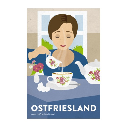 Ostfriesland Vintage Poster - Tee - Poster 20x30 cm