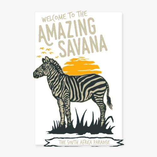 Zebra - Poster 20x30 cm