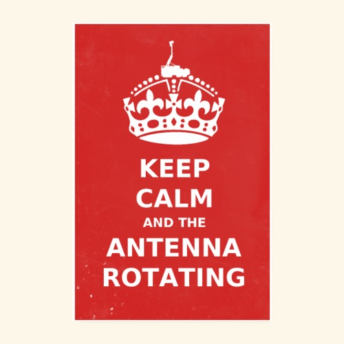 Keep Calm And The Antenna ROTATING - Poster 20x30 cm