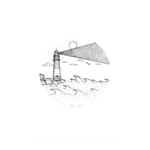 Leuchtturm am Meer - Poster 20x30 cm