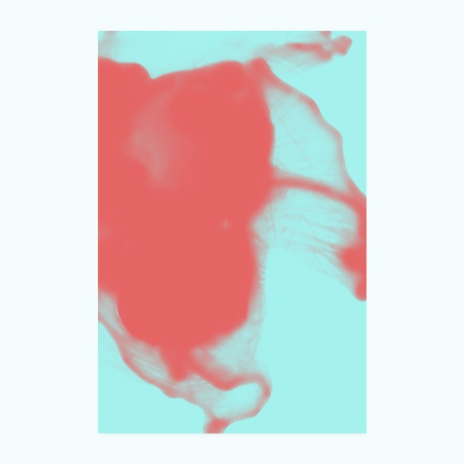 Alcohol Colors Abstract Coral Mint