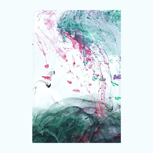 Ocean Ink - Alcohol Ink Abstract Modern - Poster 8 x 12 (20x30 cm)