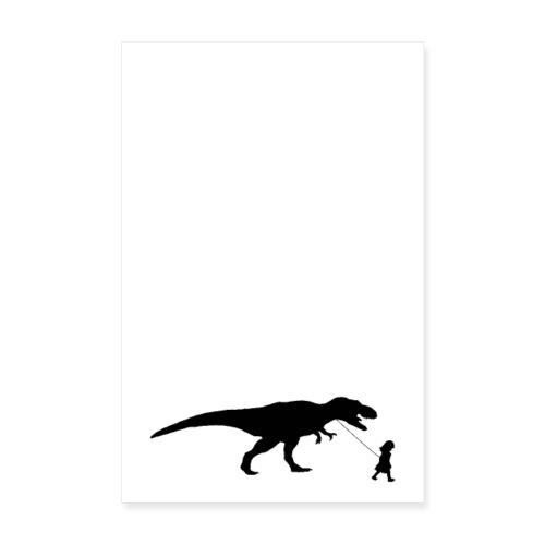 Poster Walking my beast - Poster 20x30 cm