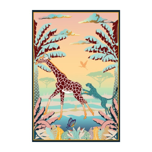 Poster Chasse africaine 2 - Poster 20 x 30 cm