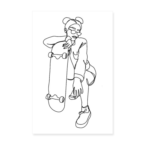 SKATER GIRL - Poster 20x30 cm