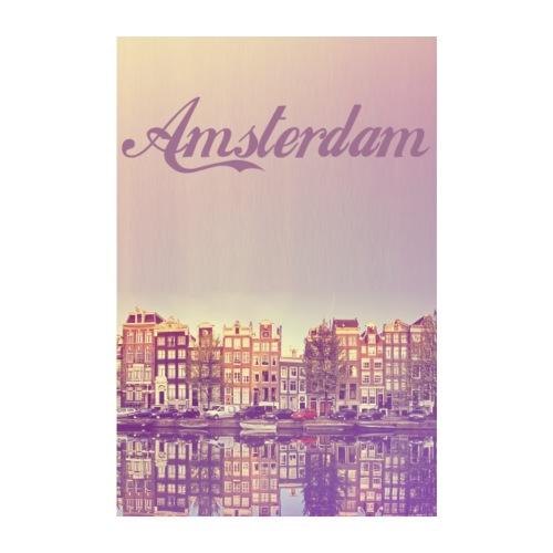 Amsterdam Capitale des Pays-Bas - Poster 20 x 30 cm