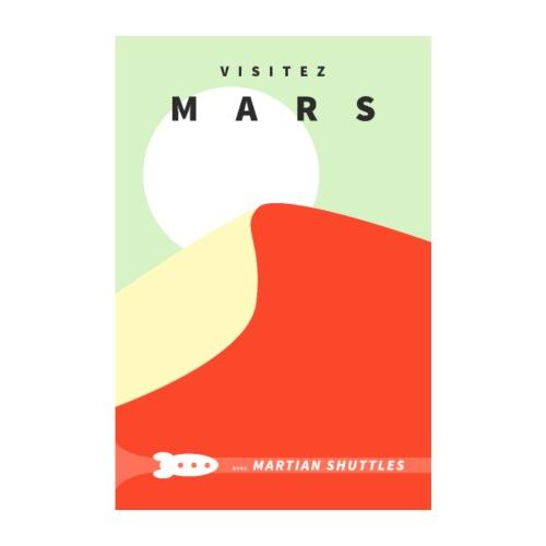 Poster Visitez Mars - Poster 20 x 30 cm