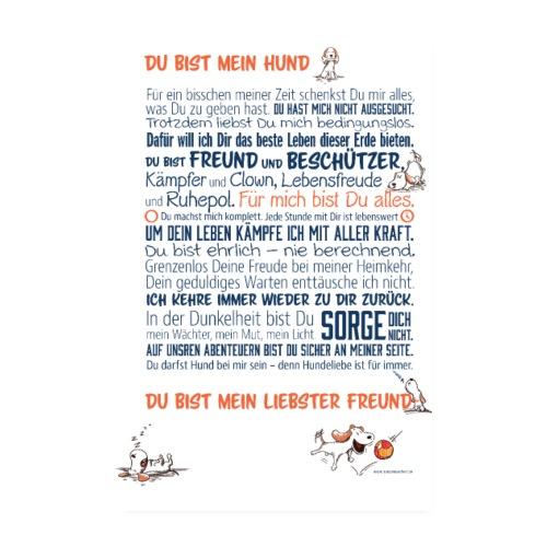 Das Hundemanifest - Jetzt als Poster - Poster 20x30 cm