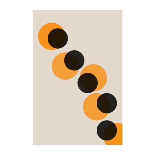 Orange Kreise - Poster 20x30 cm
